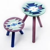 Sada 2 ručně malovaných stoliček Biertan