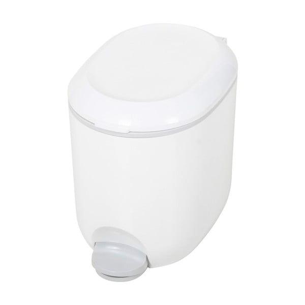 Coș de gunoi cu pedală, pentru baie Addis, 18,5 x 29 x 23 cm, alb - gri
