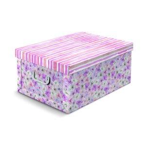 Růžovo-fialová úložná krabice Cosatto Hydrangea, 50x40cm