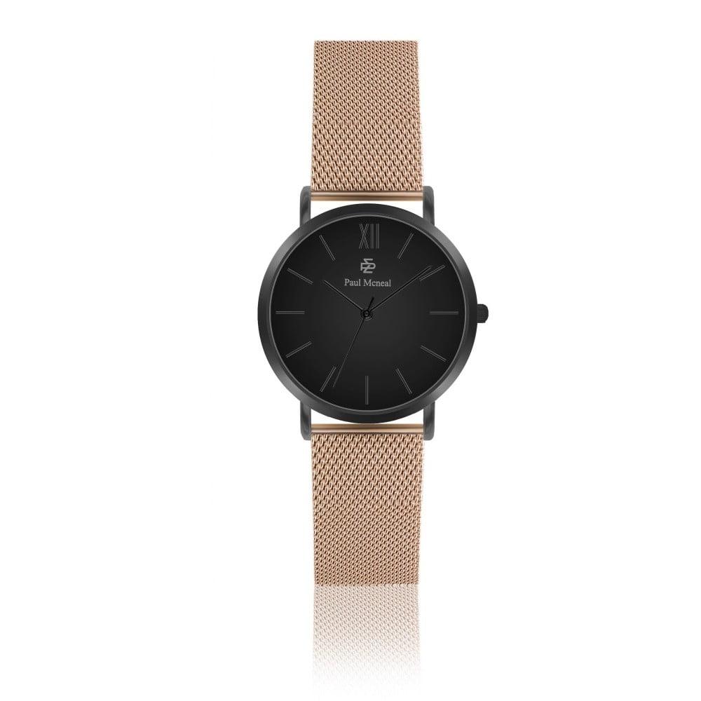 Dámské hodinky s řemínkem z nerezové oceli v barvě růžového zlata Paul McNeal Noche, ⌀ 3,6 cm