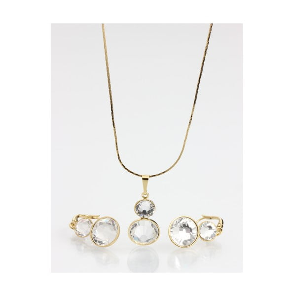 Set náušnice a náhrdelníku Laura Bruni Clear