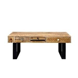 Konferenční stolek z masivního mangového dřeva Massive Home Ella, délka120cm