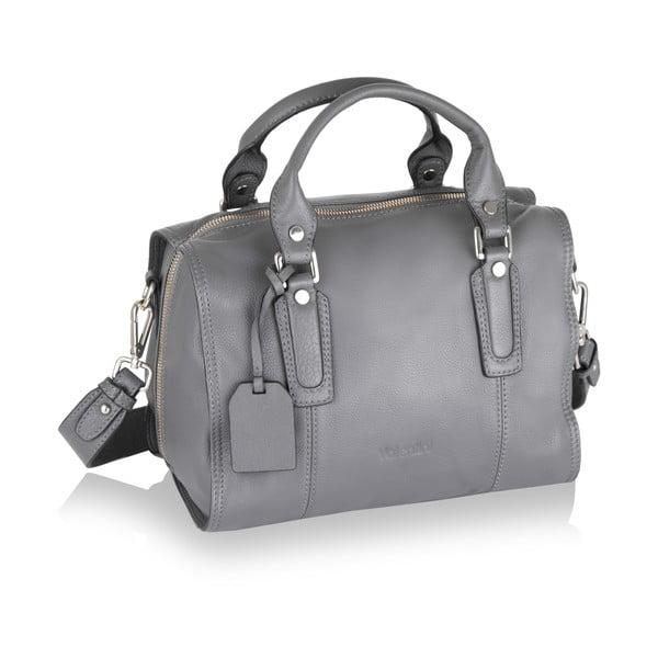 Kožená kabelka Valentini 857, šedá