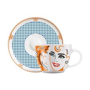 Set porcelánového šálku a podšálku na espresso Ritzenhoff Michal Shalev, 8cl