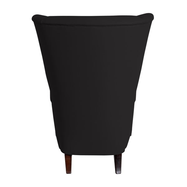 Černé koženkové křeslo Max Winzer Aurora