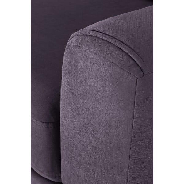 Fialová rohová pohovka s lenoškou na pravé straně L'Officiel Interiors Kendall