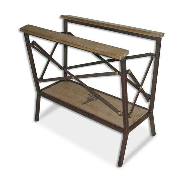 Stojan na časopisy Iron Wood, 46x25x42 cm