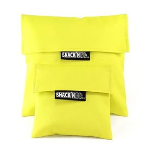 Sada 2 kapsiček na svačinu Snack'n'Go, žluté