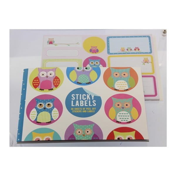 Sada 200 samolepek GO Stationery Owls