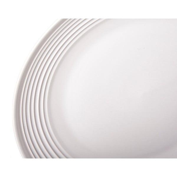 Sada 4 bílých kameninových talířů Unimasa Classic, průměr27cm
