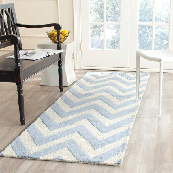 Vlněný koberec Stella Light Blue, 121x182 cm