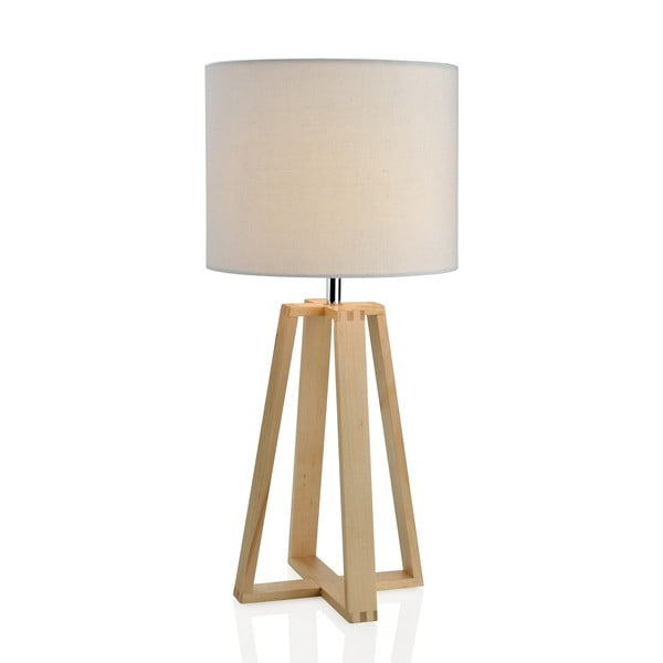 Dřevěná lampa Group, bílá