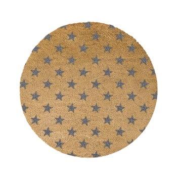 Covor intrare rotund Artsy Doormats Stars, ⌀ 70 cm, gri