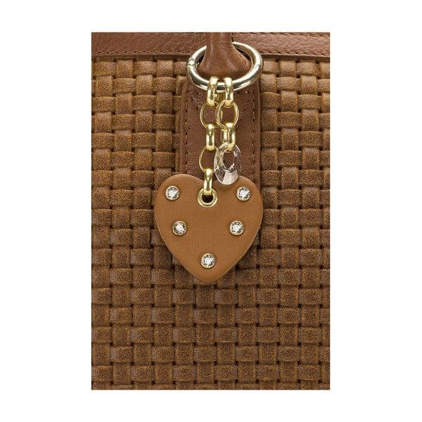 Kožená kabelka Giorgio Costa 15014 Cognac