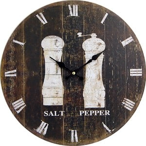 Hodiny Salt and Pepper, 34 cm