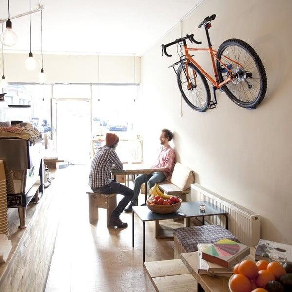 Nástěnný stojan na kolo Cycloc Hero, oranžový