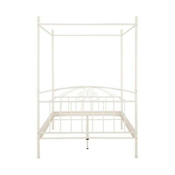 Bílá dvoulůžková postel s nebesy Støraa Bibi, 180x200cm
