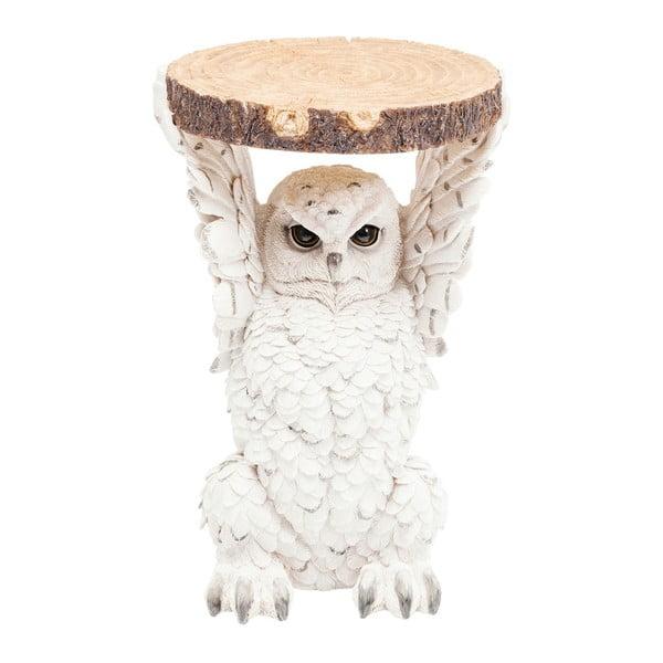 Odkládací stolek ve tvaru zvířete Kare Design Owl, Ø 35 cm
