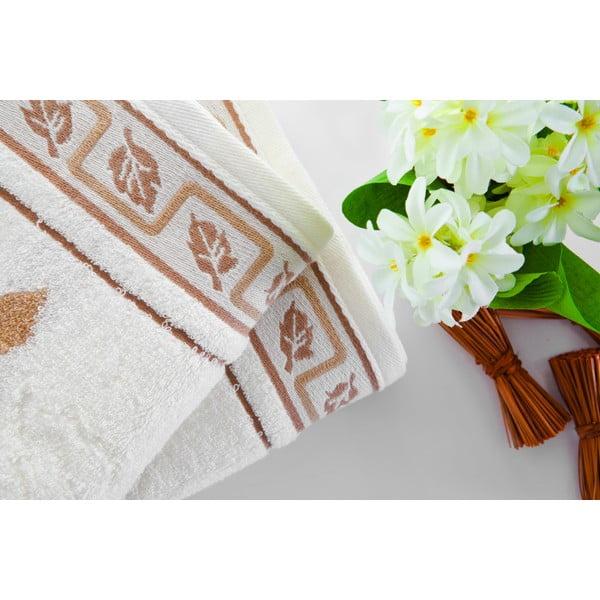 Ručník Leaves Brown, 50x100 cm