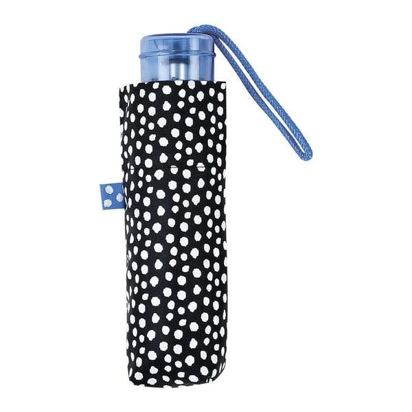 Umbrelă pliabilă Ambiance White Dots, ⌀ 92 cm, negru