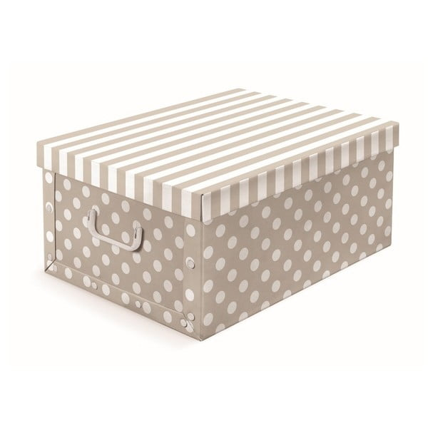 Béžová úložná krabice s puntíky Cosatto Trend