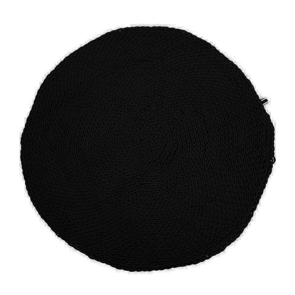 Ručně pletený koberec 100 cm, černý