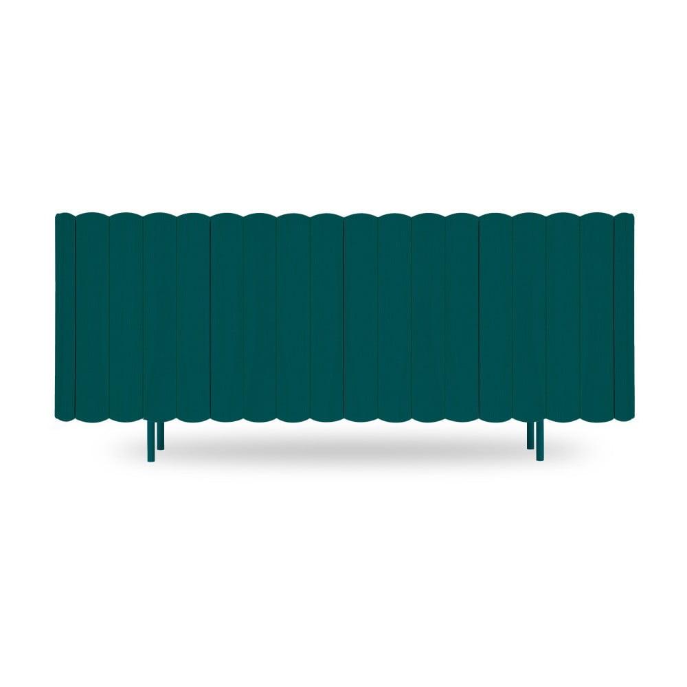 Petrolejově zelená komoda z bukového dřeva HARTÔ Cesar, délka 160 cm