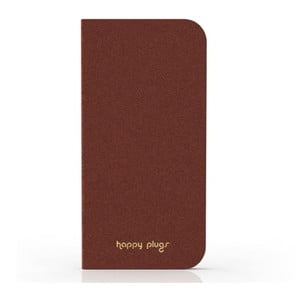 Překlápěcí obal Happy Plugs na iPhone 5, hnědý