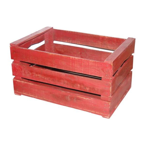 Červený dřevěný box Antic Line Wooden