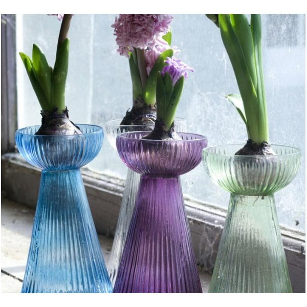 Váza Hyacinth, tyrkysová