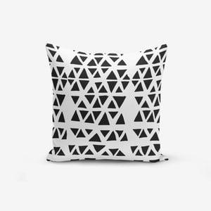 Povlak na polštář s příměsí bavlny Minimalist Cushion Covers Black Triangle Modern, 45 x 45 cm