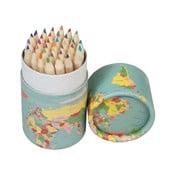 Set 36 creioane colorate Rex London World Map