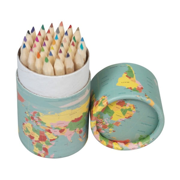 Zestaw 36 kredek w tubie Rex London World Map
