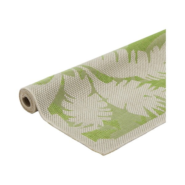 Zelený vysoce odolný koberec vhodný do exteriéru Webtappeti Palms,135x190cm