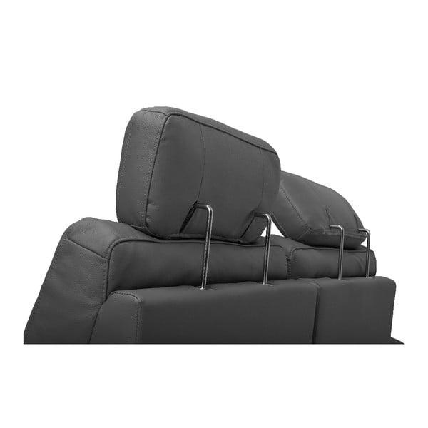Canapea din piele cu 2 locuri Furnhouse Viktor, lățime 193 cm, gri