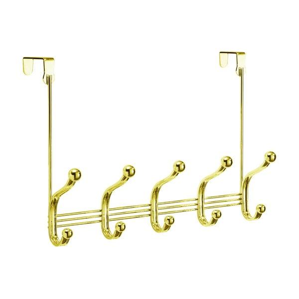 Cuier suspendat iDesign York Lyra, 14x40,5cm, auriu