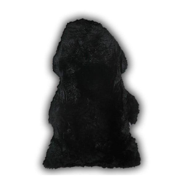 Černá ovčí kožešina Pipsa Mouton, 110x80 cm
