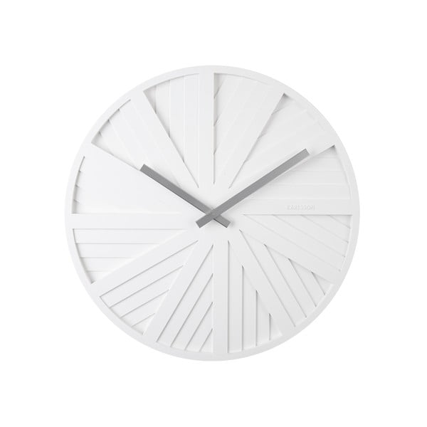 Biały zegar ścienny Karlsson Slides, ø 40 cm