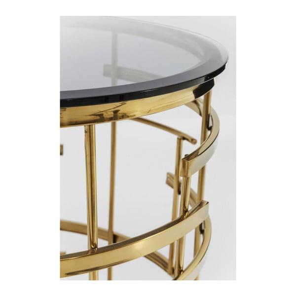 Odkládací stolek ve zlaté barvě Kare Design Jupiter, ⌀ 55 cm