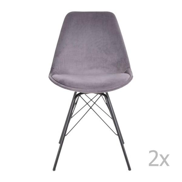 Sada 2 světle šedých jídelních židlí House Nordic Oslo