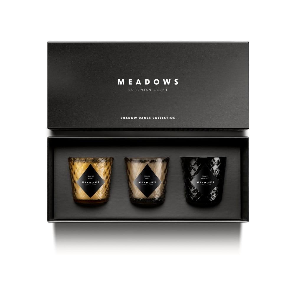 Sada 3 svíček Meadows Shadow Dance Collection