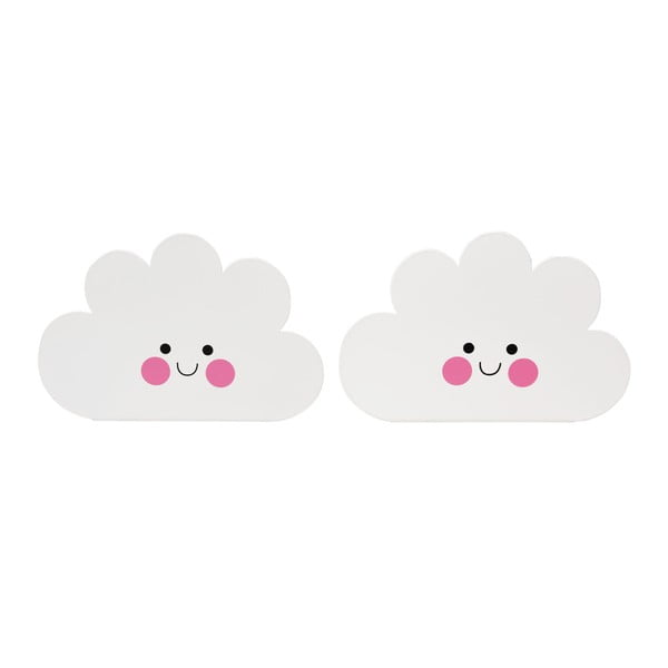 Sada 2 zarážek do knihovny Rex London Happy Cloud