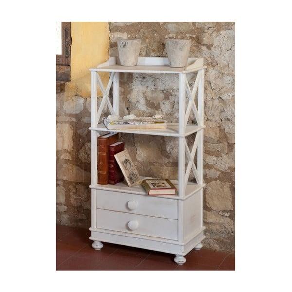 Bílá dřevěná knihovna Castagnetti Justine