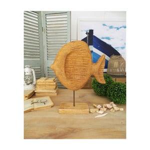 Dekorace z mangového dřeva Orchidea Milano Fish, výška 50 cm