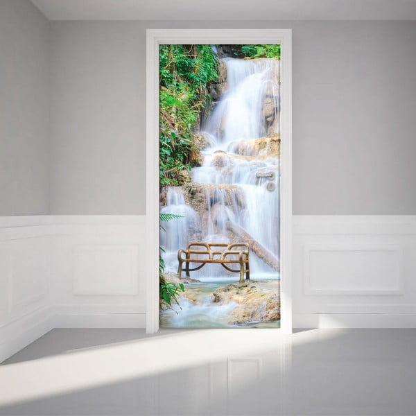 Adhezivní samolepka na dveře Ambiance Waterfall