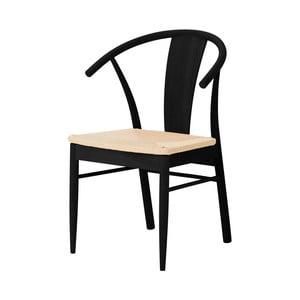 Černá jídelní z dubového dřeva židle Interstil Janik