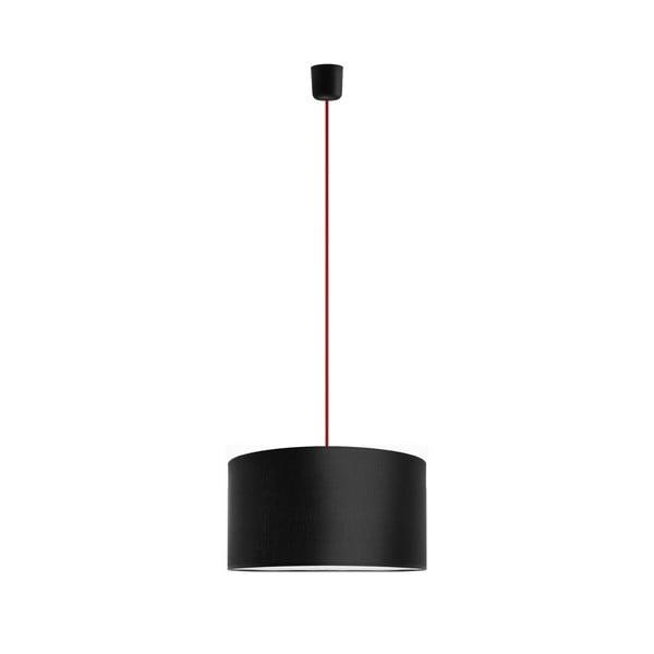 Závěsné svítidlo Tres 36 cm, červená/černá