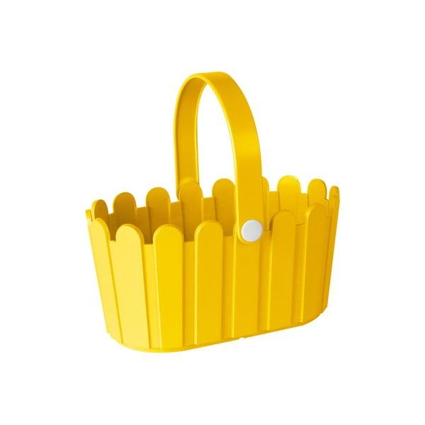 Květináč Landhaus Basket Yellow