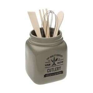Set 4 kuchyňských nástrojů v dóze Versa Grey Cutlery