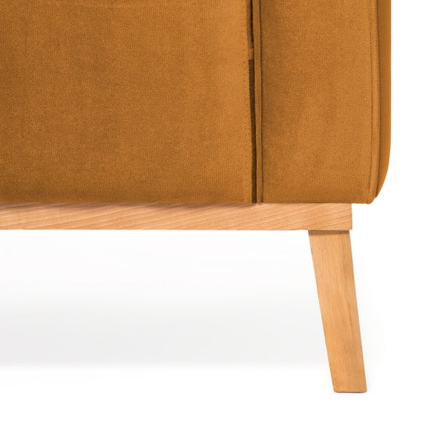 Hořčicově žlutá 3místná sedačka levý roh Vivonita Milton Trend